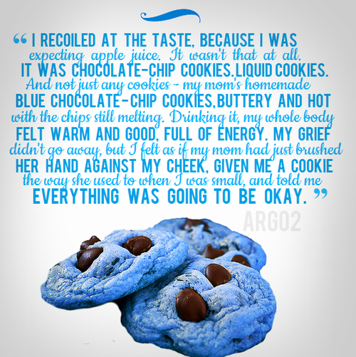 Bookish Baking 3 Blue Cookies Percy Jackson RiverMoose